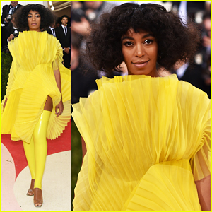 Solange Knowles Is 'Mellow Yellow' At Met Gala 2016!
