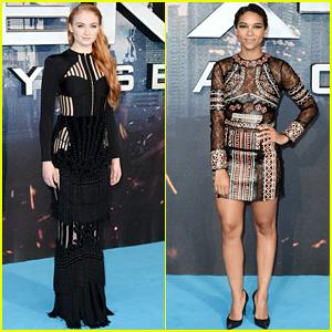 Sophie Turner & Alexandra Shipp Go Glam for 'X-Men: Apocalypse' Fan Event!