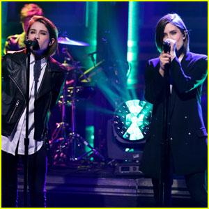 Tegan & Sara Perform 'Boyfriend' on 'The Tonight Show' (Video)