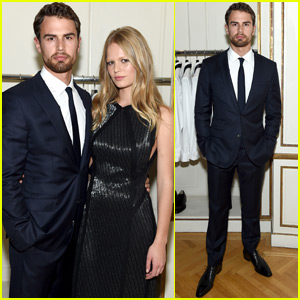 Theo James & Anna Ewers Support 'Hugo Boss' at Cologne Launch