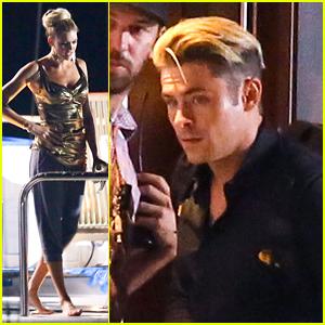 Zac Efron & 'Baywatch' Cast Film Night Scenes on Boat