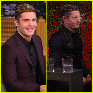 Zac Efron Has 'Water War' With Jimmy Fallon - Watch!