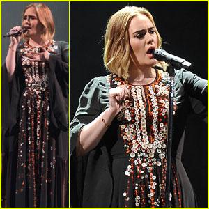 Adele Celebrates Pride at Glastonbury Festival 2016