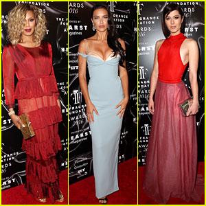 Laverne Cox & Adriana Lima Dress Up for Fragrance Foundation Awards