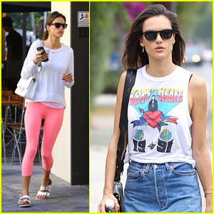 Alessandra Ambrosio Heads to a Meeting After Her Morning Workout