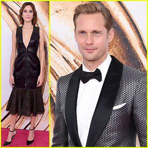 Alexander Skarsgard & Alexa Chung Arrive Separately at CFDA Fashion Awards 2016