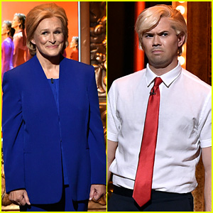 Glenn Close & Andrew Rannells Spoof Hillary Clinton & Donald Trump at Tony Awards 2016 (Video)