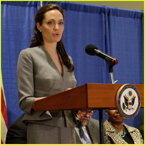 Angelina Jolie Meets With John Kerry on World Refugee Day