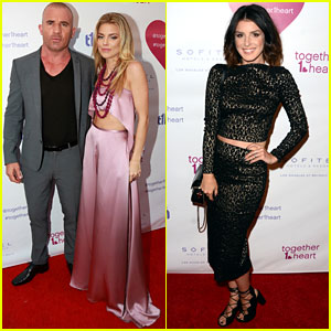 AnnaLynne McCord Launches together1heart with Dominic Purcell By Her Side