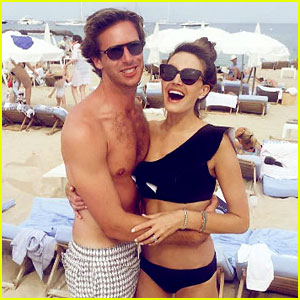 Armie Hammer Bares Beach Body in St. Tropez with Wife Elizabeth Chambers!