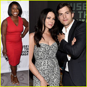 Ashton Kutcher & Laura Prepon Reunite to Honor Netflix Boss