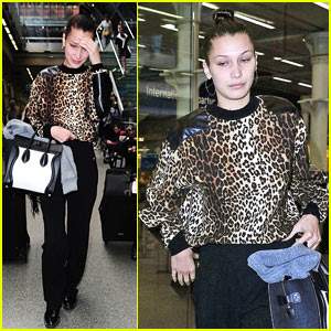 Bella Hadid Arrives in London After Paris Fashion Week