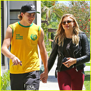 Brooklyn Beckham & Chloe Moretz Hold Hands For a Lunch Date at Sugarfish