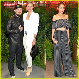 Cameron Diaz & Benji Madden Support Sister-in-Law Nicole Richie's Fashion Event!