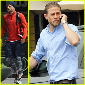 Charlie Hunnam Hits the Gym & Then Cleans Up for Lunch
