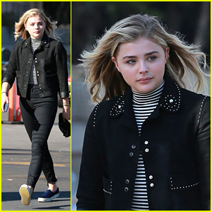 Chloe Moretz Takes Her Car in for a Wash