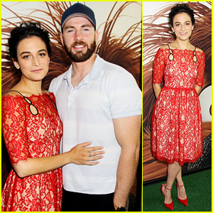 Captain America's Chris Evans & Girlfriend Jenny Slate Make Red Carpet Debut!