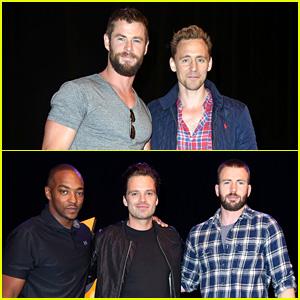 Marvel's Chris Hemsworth, Chris Evans, & Tom Hiddleston Hit Up Wizard World Comic Con 2016