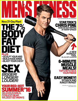 Chris Pine Puts Ripped Muscles on Display for 'Men's Fitness'