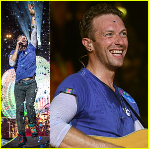 Chris Martin's Kids Apple & Moses Perform with Coldplay at Glastonbury Show!