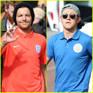 Louis Tomlinson & Niall Horan Reunite For UNICEF Soccer Game Training in London