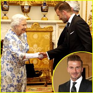 David Beckham Gets a Big Smile from Queen Elizabeth
