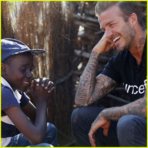 David Beckham Spends Times With Children in Swaziland