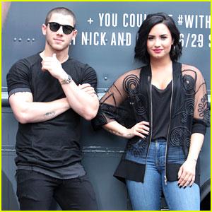 Demi Lovato & Nick Jonas Surprise Atlanta Fans with Free Treats
