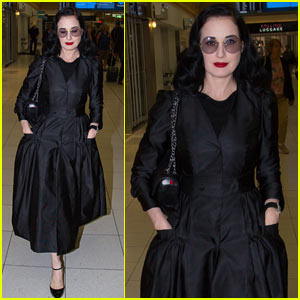 Dita Von Teese Channels Old Hollywood Glam in Australia