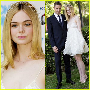 Elle Fanning Wears Pretty Flower Crown for 'Neon Demon' in Rome!