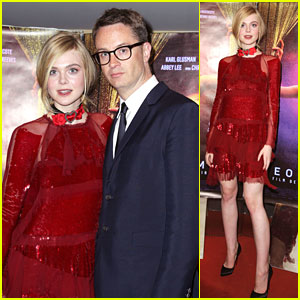 Elle Fanning Wows In Red at 'Neon Demon' Paris Premiere