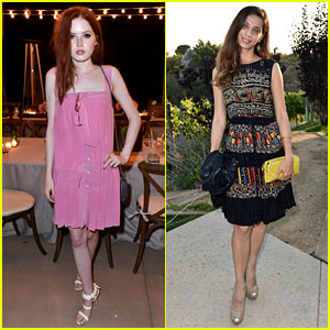 Ellie Bamber & Angela Sarafyan Are Rising Stars at Just Jared & Vintage Grocers' Malibu Dinner