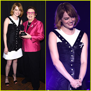 Emma Stone Presents to Billie Jean King at Logo's Trailblazer Honors