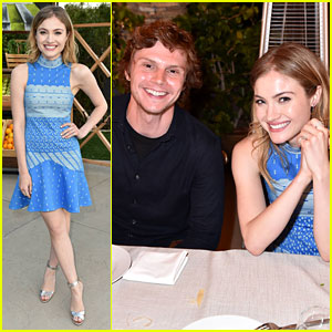 Evan Peters & Skyler Samuels Have an 'AHS' Reunion at Just Jared & Vintage Grocers' Malibu Dinner!