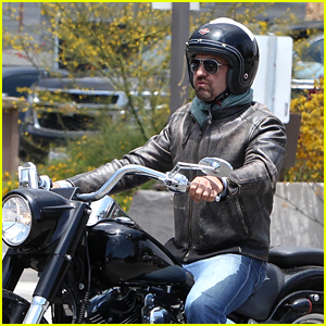 Gerard Butler Goes for Weekend Motorcycle Ride