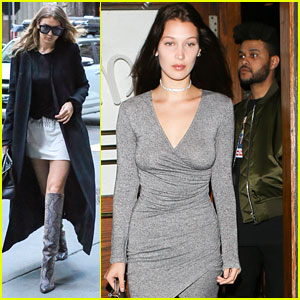 Bella Hadid & The Weeknd Make It A Movie Date Night; Gigi Hadid Slays in Thigh-High Boots in NYC