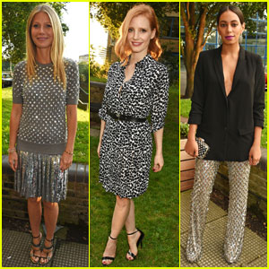 Gwyneth Paltrow & Jessica Chastain Attend Michael Kors Dinner