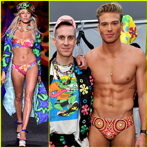 Hailey Baldwin & Matthew Noszka Strip Down for Moschino Runway Show