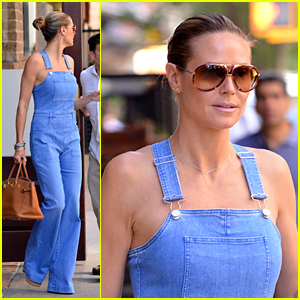 Heidi Klum Makes Overalls Sexy with Summer Look