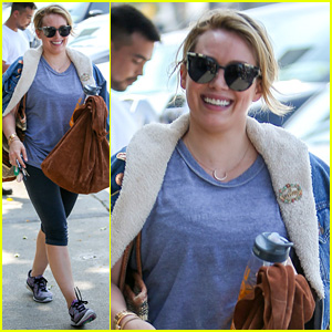 Hilary Duff Helps Take Care of a Raccoon