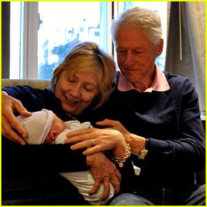 Hillary & Bill Clinton Share Photos of Chelsea's Son Aidan!