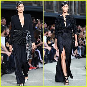 Irina Shayk & Joan Smalls Look Fierce on the Givenchy Runway