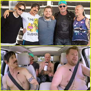 James Corden Goes Shirtless With Red Hot Chili Peppers In Carpool Karaoke!