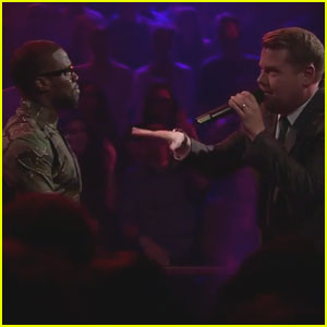 Watch Kevin Hart Rap Battle James Corden on 'Late Late Show'