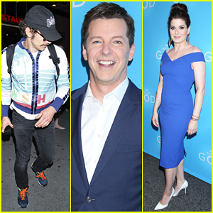 James Franco & Debra Messing Support Sean Hayes At 'An Act of God' Opening Night!