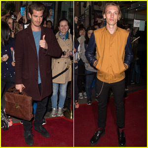 Andrew Garfield & Jamie Campbell Bower Support 'The Spoils' on Opening Night