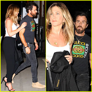 Jennifer Aniston & Justin Theroux Have a Casual NYC Date Night