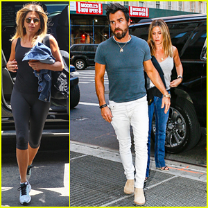 Jennifer Aniston & Justin Theroux Enjoy Another NYC Date Night!