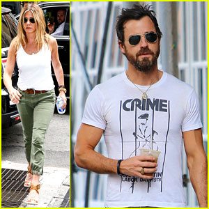 Jennifer Aniston & Justin Theroux Keep Busy in the Big Apple