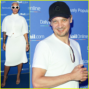 Jeremy Renner & Amber Rose Live It Up At Cannes Yacht Party!